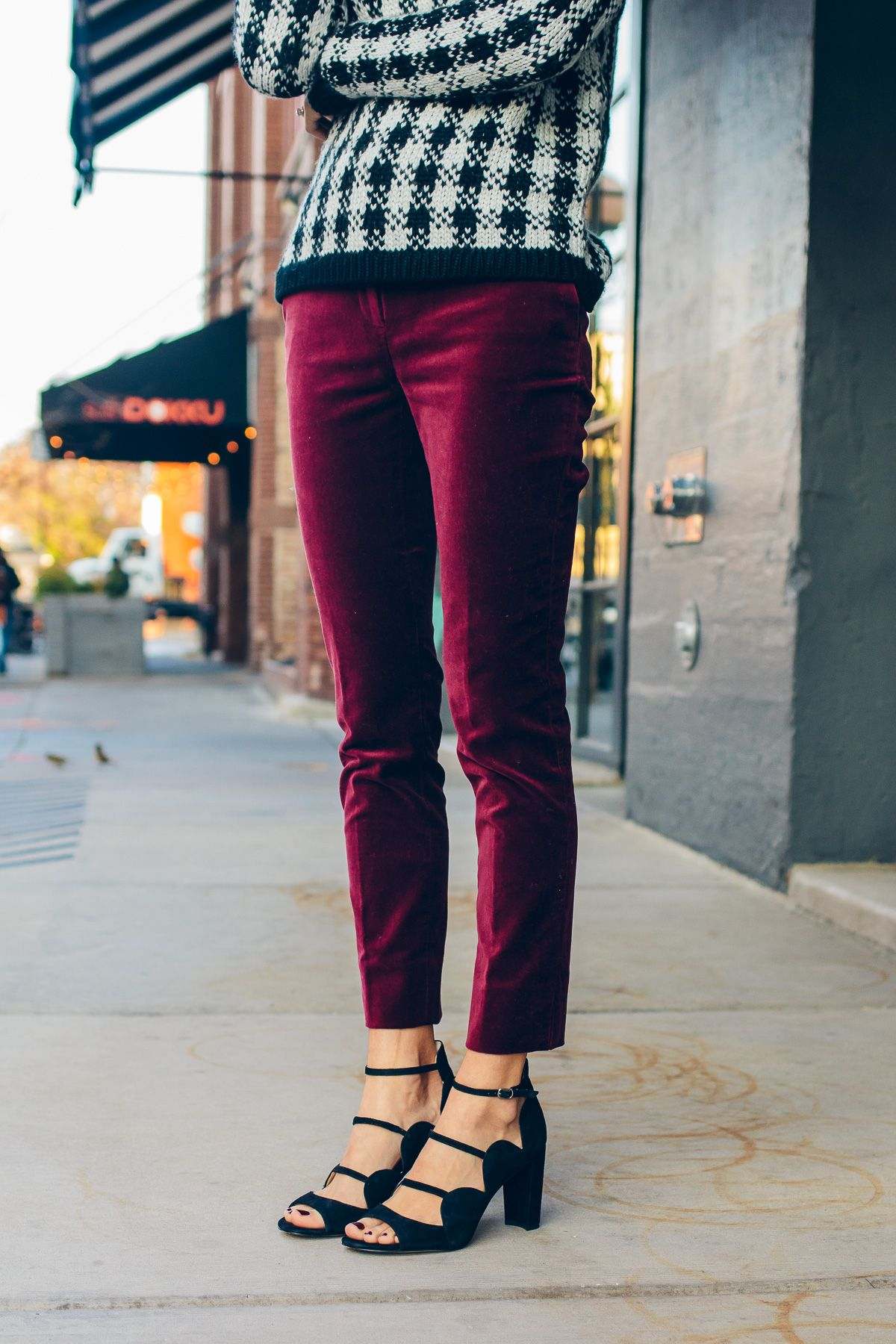 How to Wear Velvet Pants This Season | The Fox & She | Style Blog | Velvet  pants outfit, Red pants outfit, Black velvet pants