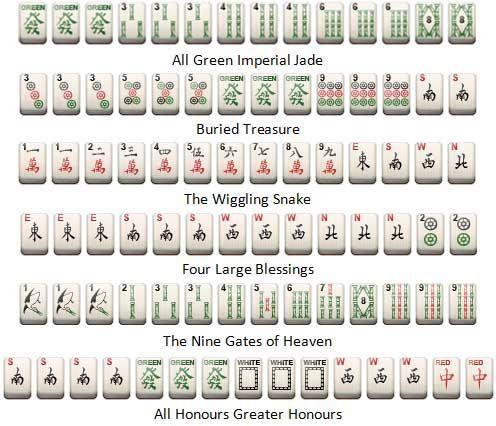 Some of the rarer Mahjong Hands  | Magnificent Mahjong