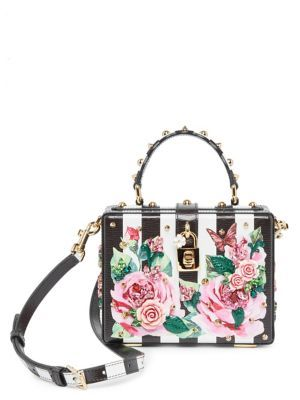 41741a67bc7 DOLCE & GABBANA Embellished Rose & Checker Bag. #dolcegabbana #bags #shoulder  bags #hand bags #leather #crossbody #
