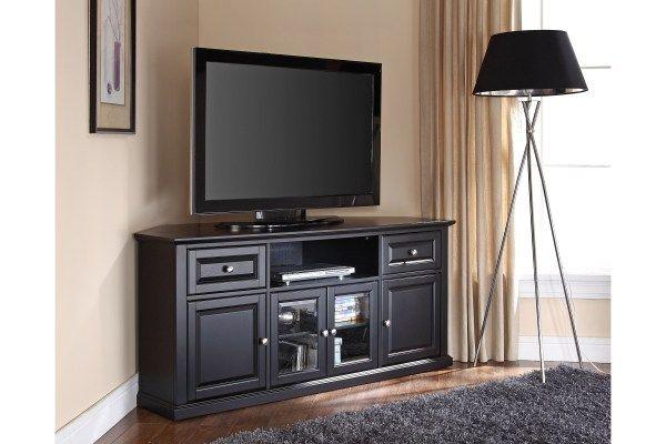 Crosley Furniture Alexandria 60 Black Corner Tv Stand Cf1000260