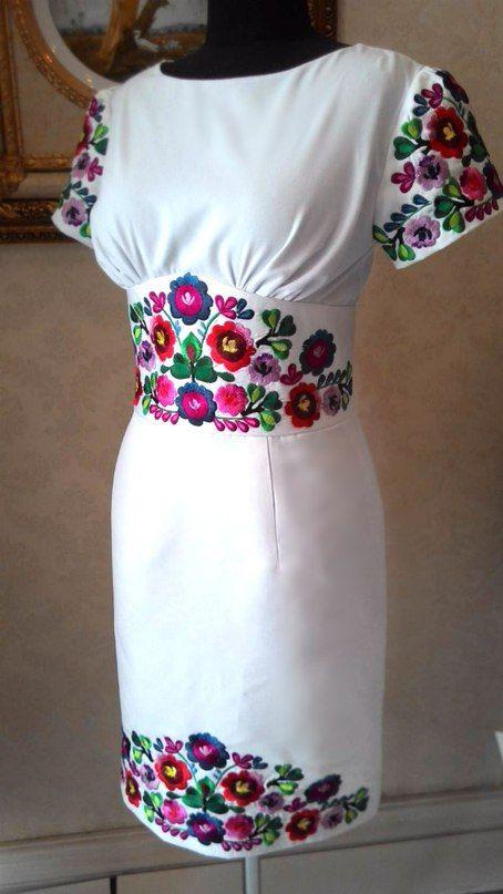 вишите плаття прямий крій Vestidos Bordados Vestidos