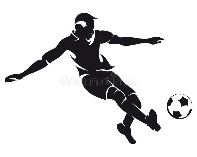 Vector Football Soccer Player Silhouette Isolated On White Background Affiliate Soccer Player Vect In 2020 Soccer Silhouette Soccer Players Football Soccer