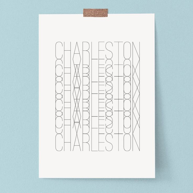Excited to share this item from my #etsy shop: Charleston Black and White Wall Art Print Typography Print Poster Dorm Decor Abstract Art Office Decor  #wallart #artprints #printathome #freeart #theprintproduction #gallerywall #homedecor #dormdecor