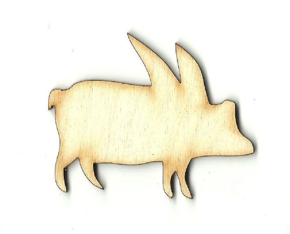 Flying Pig Unfinished Laser Cut Wood Shape MYTH2