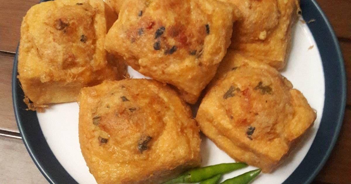 Resep Tahu Isi Campur Daging Ayam Cincang Oleh Arin Yunira Resep Resep Tahu Resep Makanan Makanan