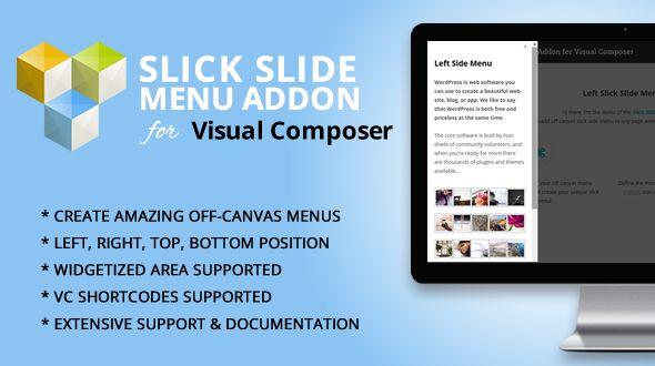 Slick Slide Menu Addon for WPBakery Page Builder (formerly
