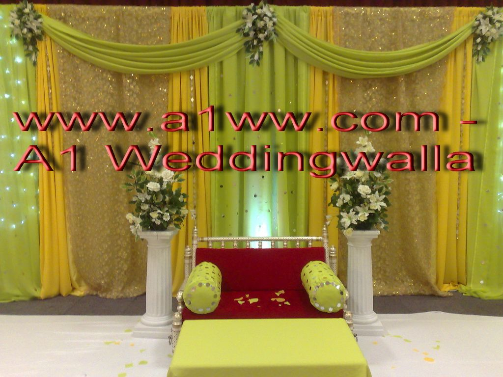 Mehndi Stage Background : How to backdrops for weddings decoration mehndi stages