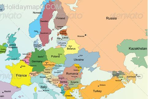 map of europe countries only nice Map of europe countries only | Europe map, European map, Map