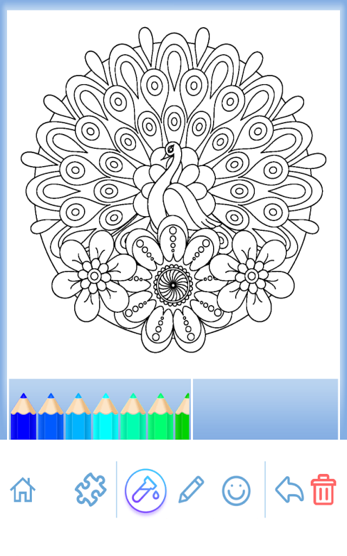 کتاب رنگ آمیزی ماندالا حیوانات Apk Screenshot Mandala Coloring Pages Coloring Pages Rug Hooking Patterns