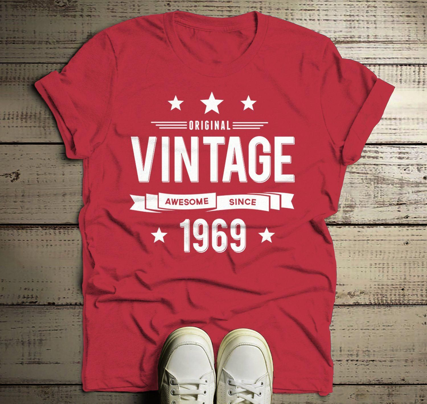 6ecd03d89 Men's 50th Birthday T Shirt Original Vintage Shirt Awesome Since 1969 Gift  Idea 50th Birthday Shirts Vintage Tee Vintage Shirt #MensT-shirts
