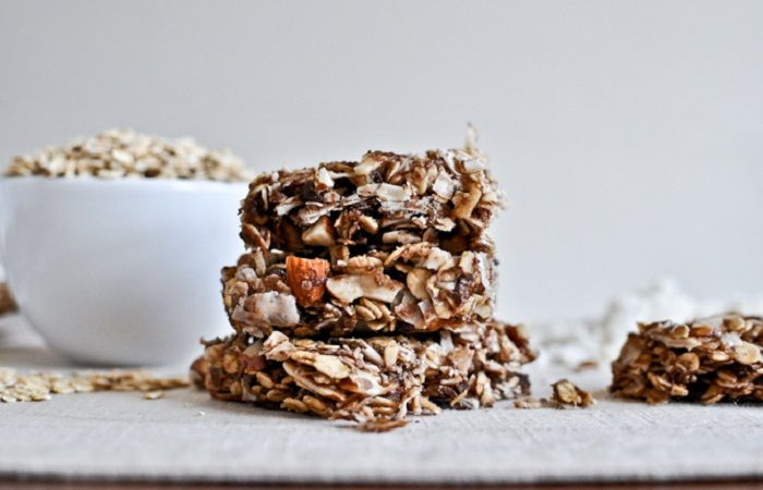 Chewy Coconut Granola Bars from How Sweet It Is
