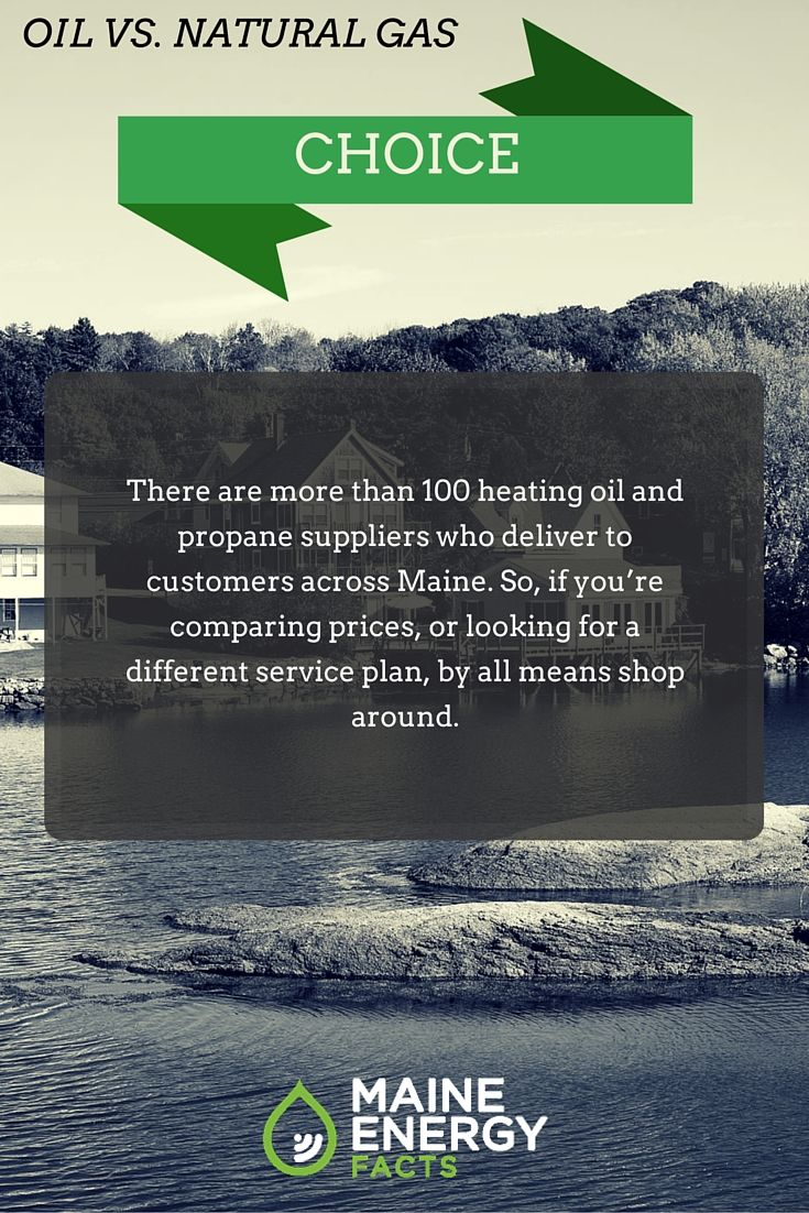 There are more than 100 heating oil and propane suppliers