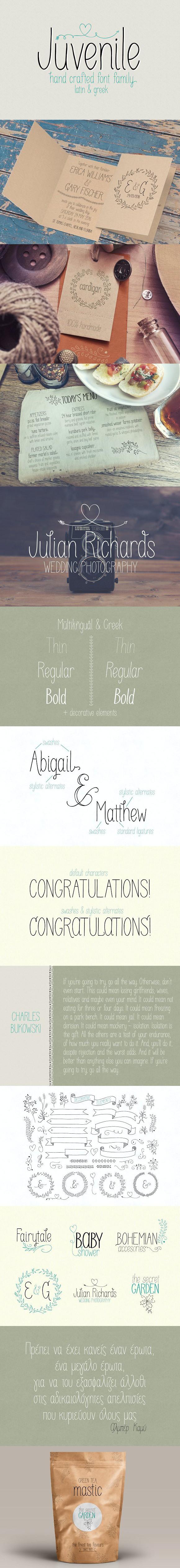 Juvenile  Romantic Fonts   Greek Fonts   Script fonts