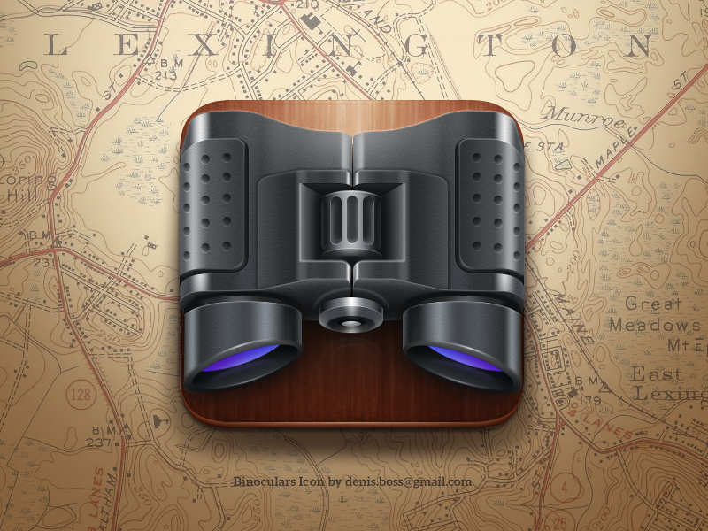 Binoculars iOS icon (With images) Ios icon, App icon