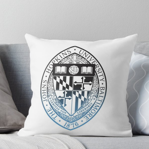 Johns Hopkins University Throw Pillow Johns Hopkins Throw Pillows