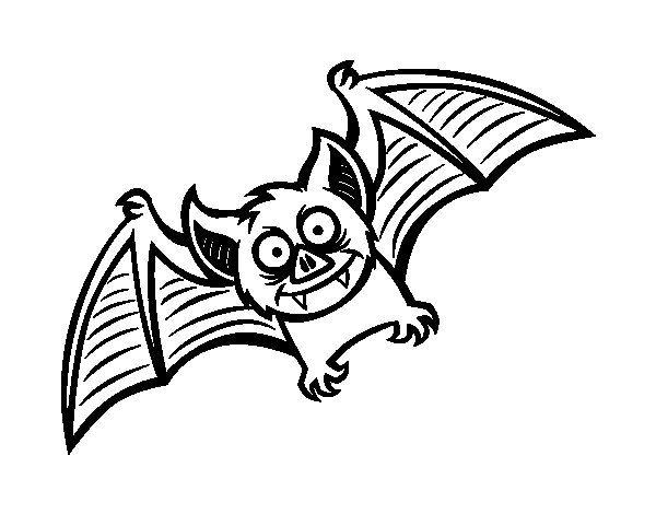 Dibujo De Murciélago Simpático Para Colorear Dibujos De