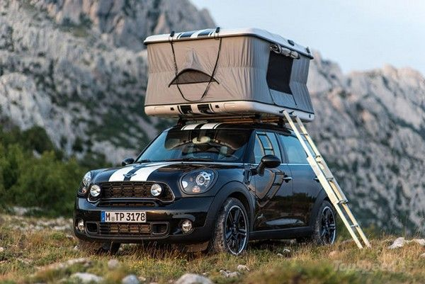 Mini Countryman All4 Camp A Car With A Roof Shelter With Images