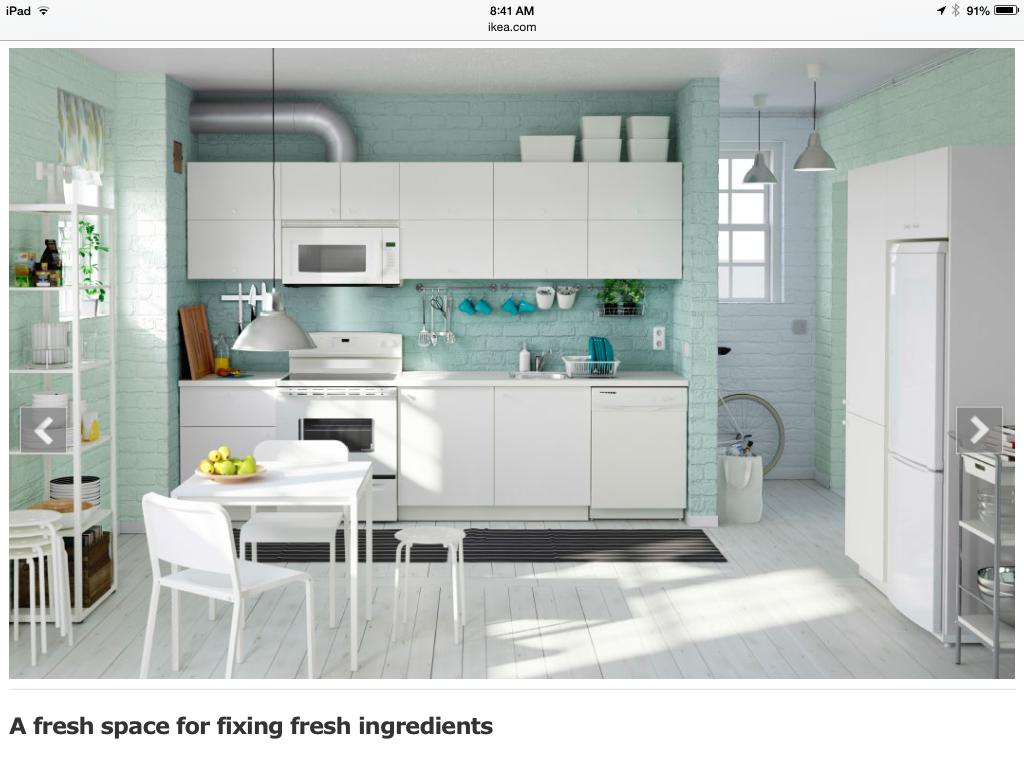 Haus, Ikea Küche Lagerung, Küchenorganisation, Weiße Küchen, Kleine Küchen,  Gestrichene Ziegel, Lackierte Holzböden, Moderne Küchen, Ikea Küche