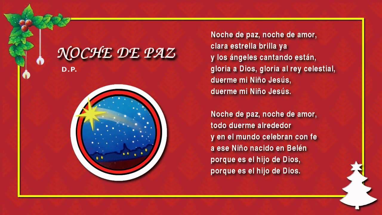 Villancico Feliz Navidad A Todos.Miss Rossi 02 Noche De Paz Villancicos Navidenos Feliz