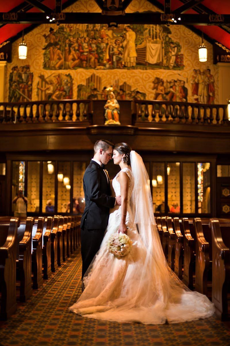 St Augustine Florida Bride And Groom Forehead To Inside Church Featuring Gold Background 11 14 15 Tara Justin 47