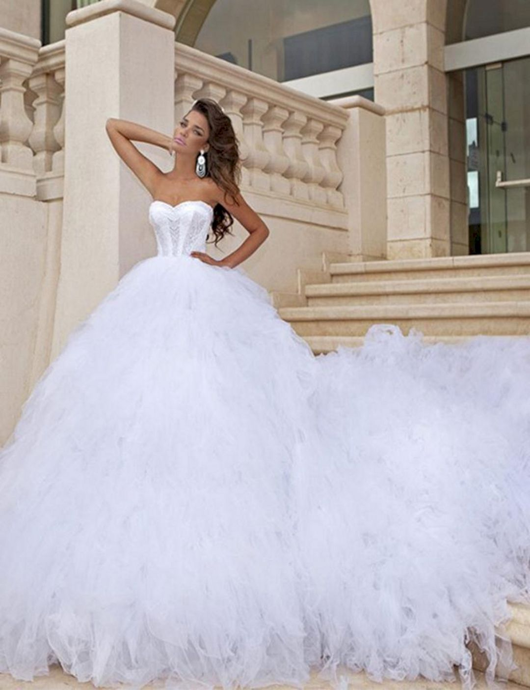 25 most wonderful wedding ball gown with cathedral trains