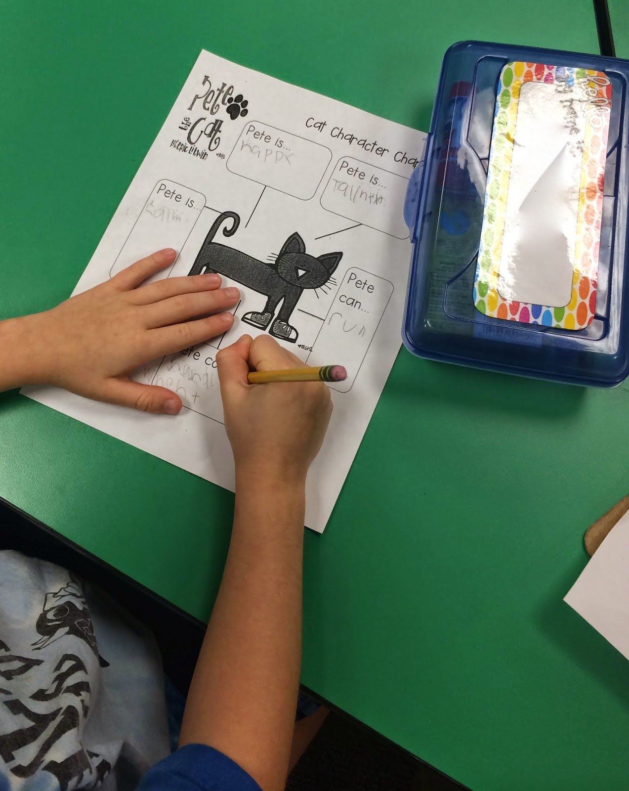 Linking up Late Fabulous In First Pete the cat, Cat