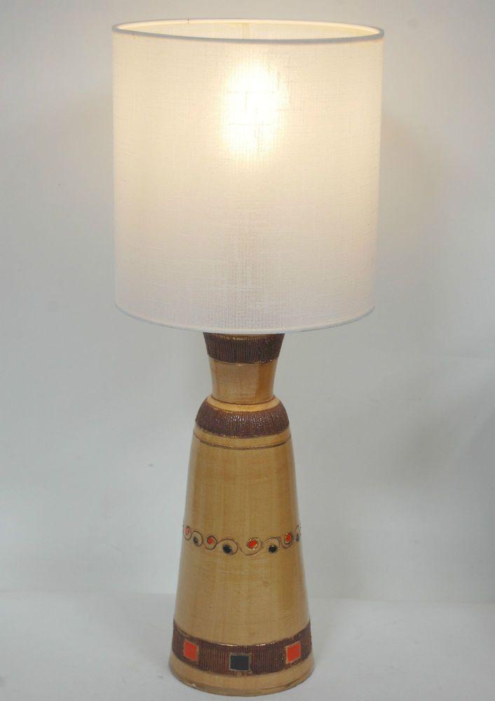 Vintage retro 1960s brown italian scraffito ceramic table lamp fwo vintage retro 1960s brown italian scraffito ceramic table lamp fwo rewired sign greentooth Gallery