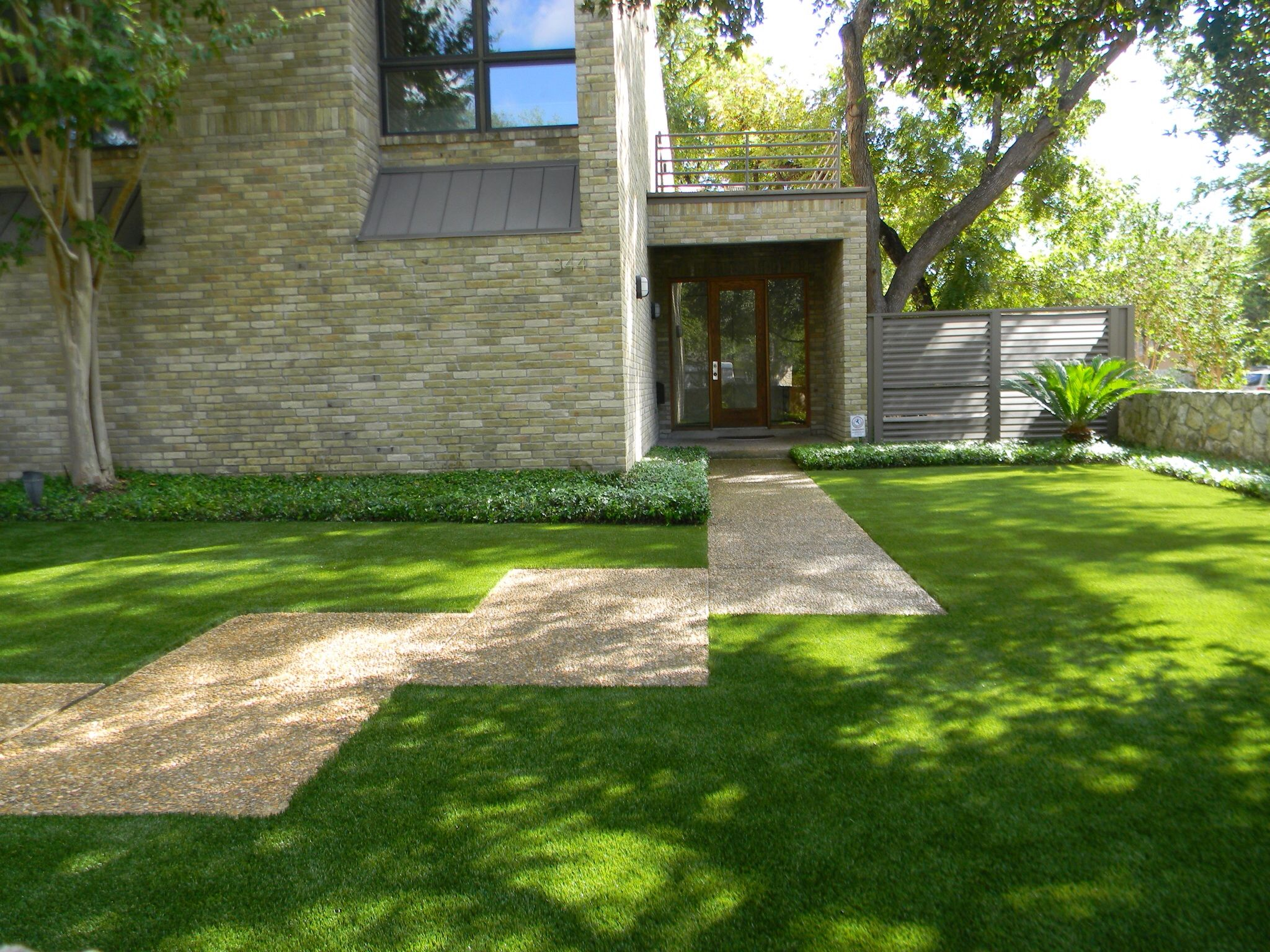 Alamo heights synthetic lawn by southwest greens of san
