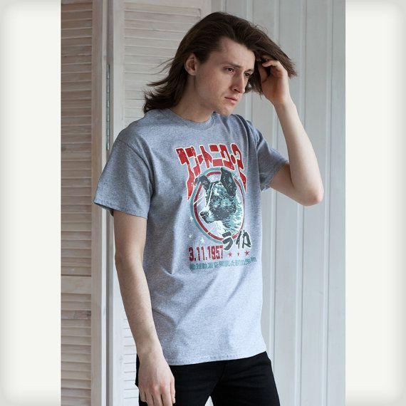 Laika The Space Dog T Shirt   Japanese Shirt  by StrandClothing