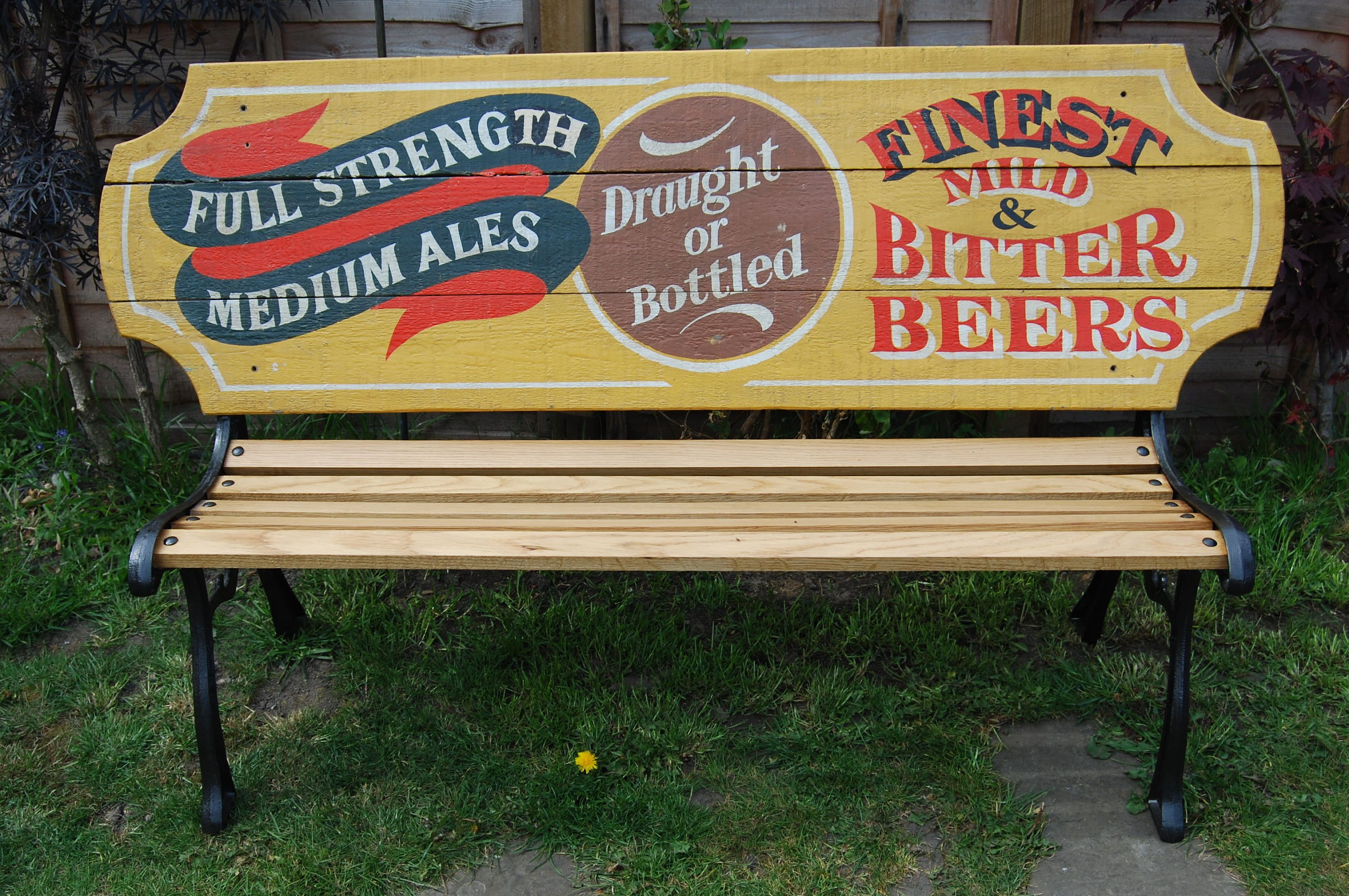 Mobilier Exterieur Macdonald Unique Vintage Pub Advertising Sign Garden Bench Benches
