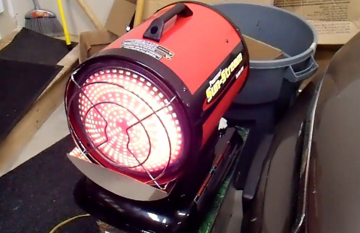 Heat your shop or garage without electricity diesel or