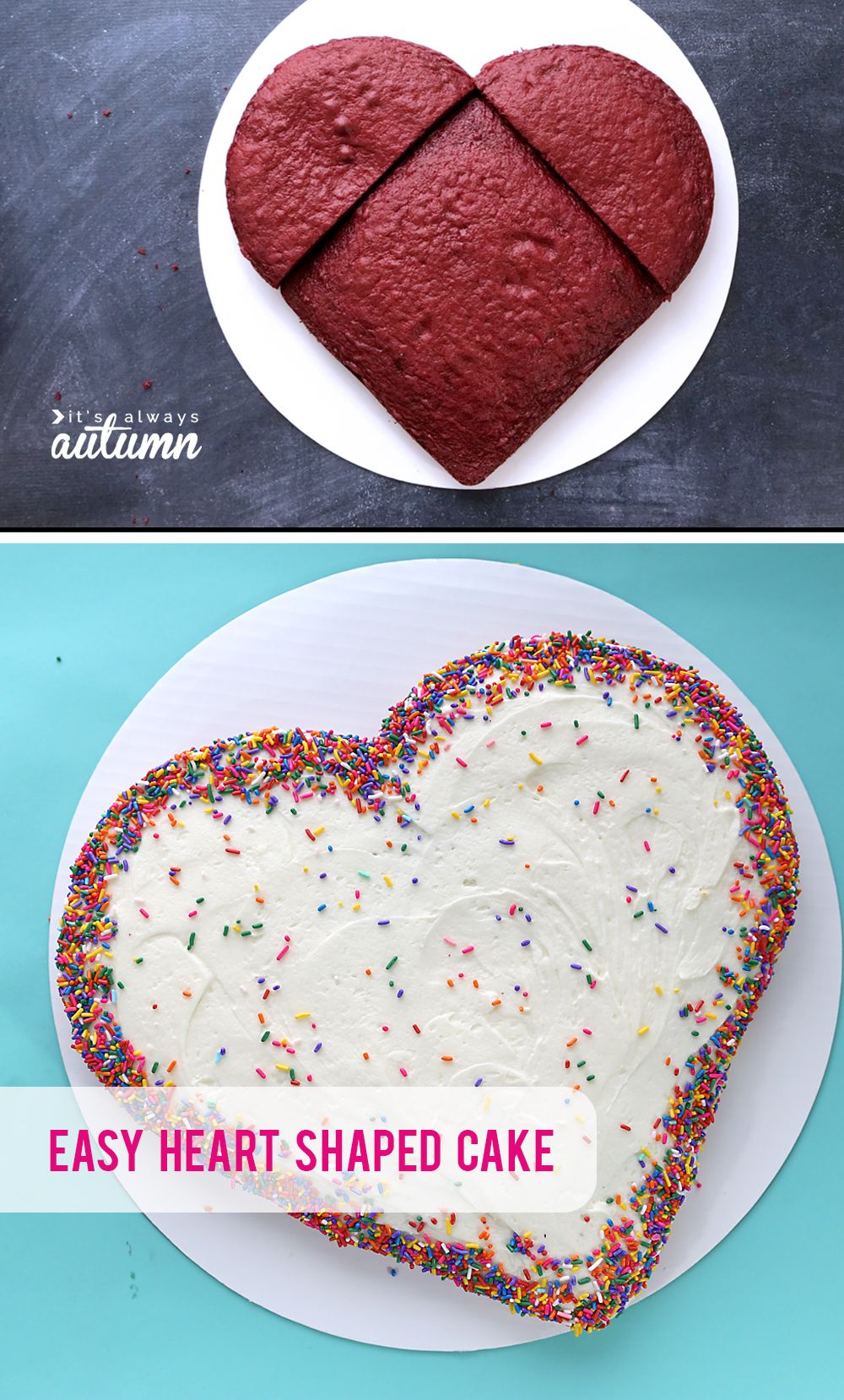 Make A Heart Shaped Cake For Valentine S Day Four Different Ways