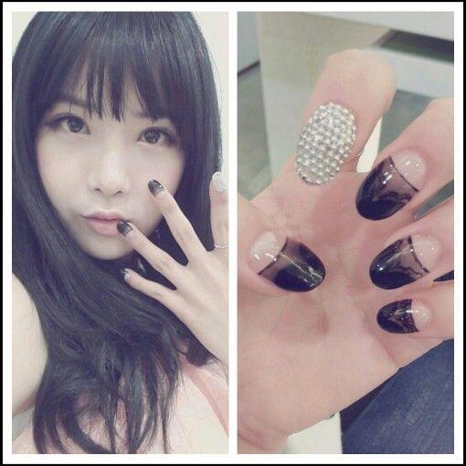 Kpop nail art (^_____^)