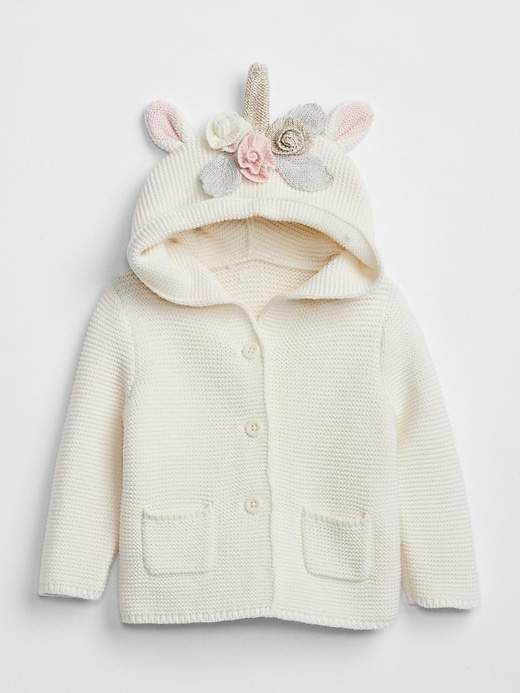 Baby Sweater Long Sleeve Hooded Bear 3D Ear Baby Cardigan with Feather Girl/'s Jacket Toddler Sweatshirt