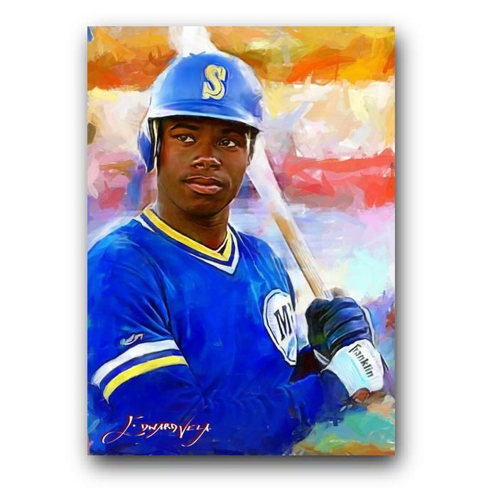 35b4787d1e Ken Griffey Jr #56 Sketch Card Limited 14/50 Edward Vela Signed  #SeattleMariners