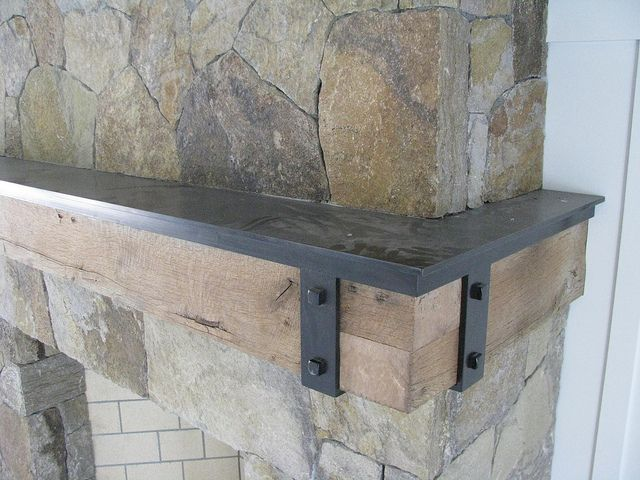Heavy Blackened Steel Mantel Plate W Straps By Werken Design Via Flickr
