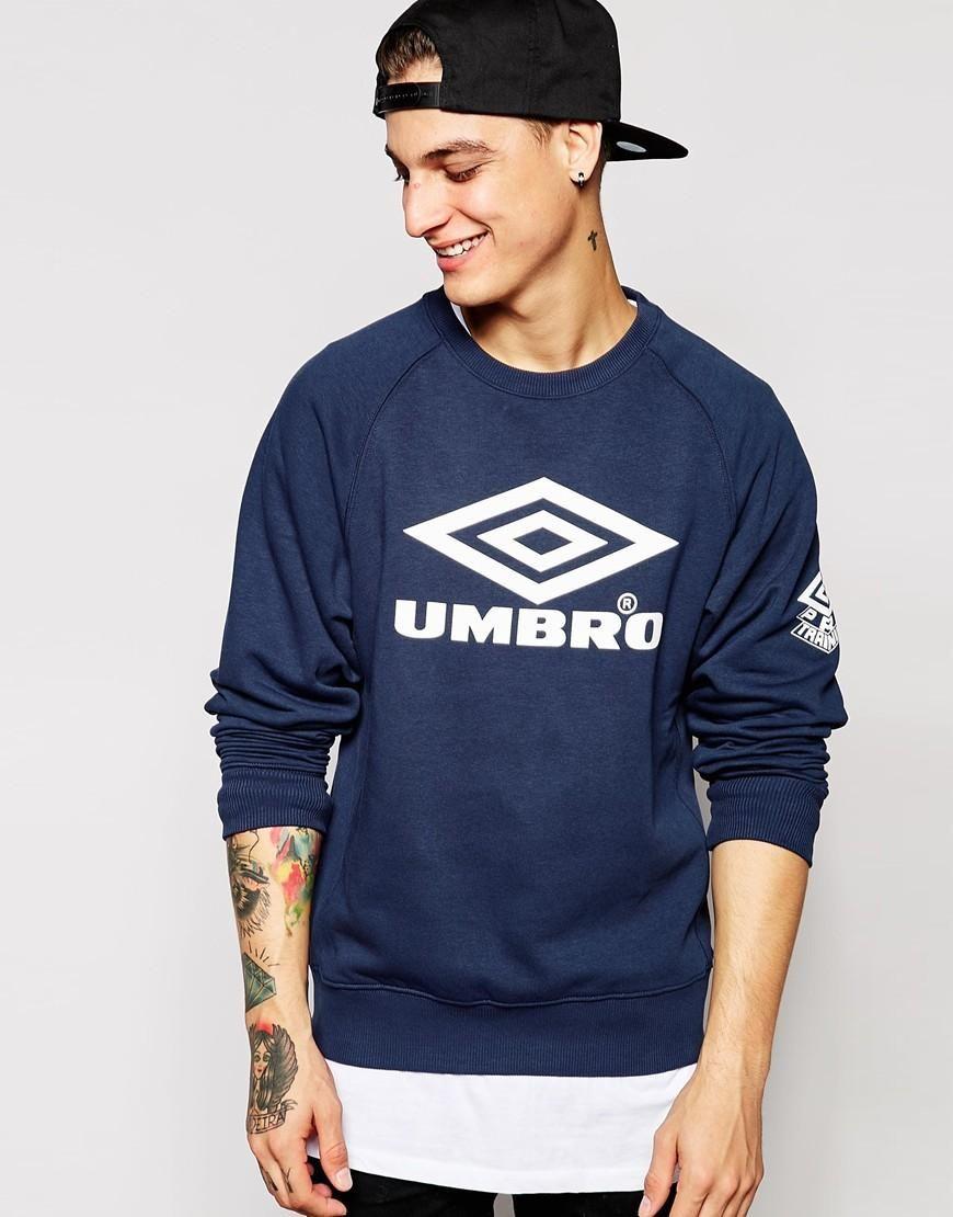 45a2008793 Umbro | Umbro Logo Sweatshirt at ASOS | model | Sweatshirts, Logos ...