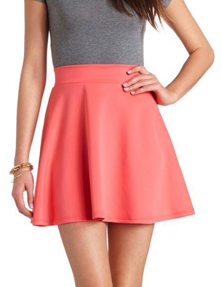 High-Waisted Skater Skirt: Charlotte Russe | Charlotte Russe ...