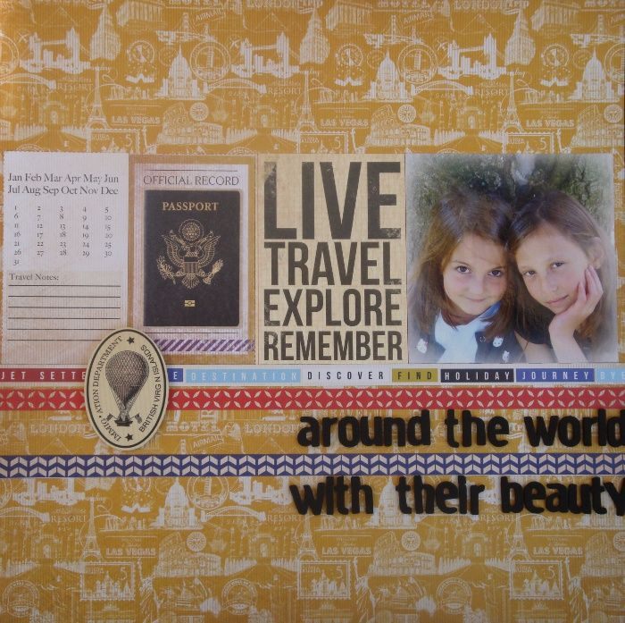 Around the world with their Beauty  Check Inn Collectie Kaisercraft