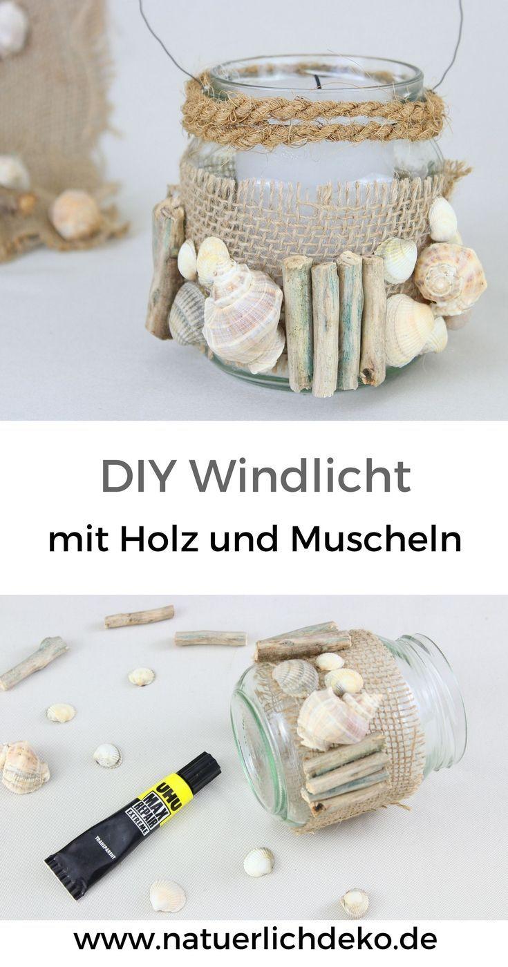 Photo of DIY Windlicht mit Holz und Muscheln – Natürlich Deko