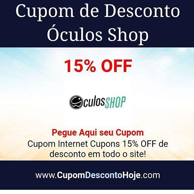 0295d104616 Cupom de Desconto 15% OFF Óculos Shop  https   www.cupomdescontohoje.com.br loja Óculos-shop 6261 Cupom Internet  Cupons 15% OFF de desconto em todo o site!