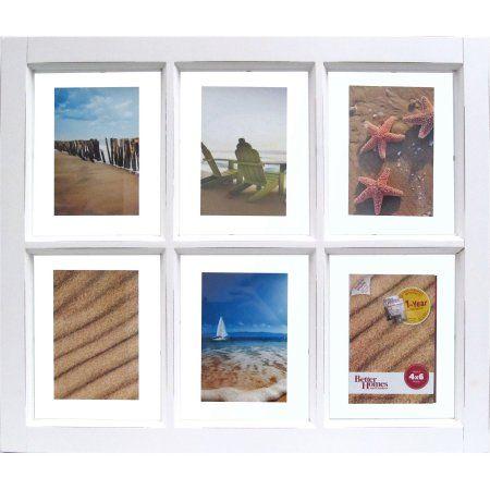 Better Homes and Gardens 6-Opening Windowpane Frame, White   Walmart ...