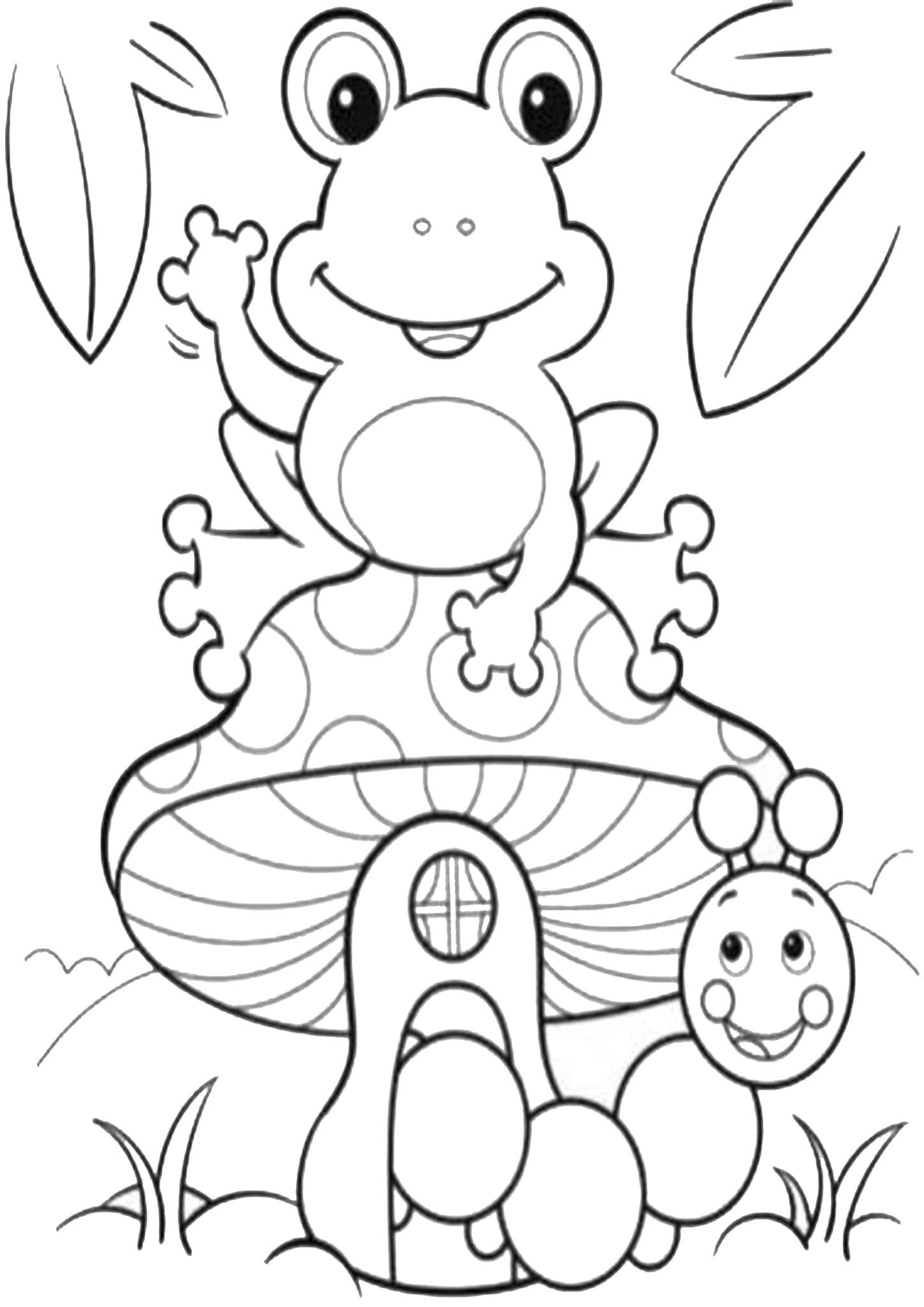 Free Easy To Print Frog Coloring Pages Frog Coloring Pages Spring Coloring Pages Free Coloring Pages [ 2048 x 1448 Pixel ]