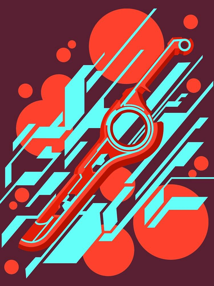 Monado Astract Red Abstract Poster Abstract Xenoblade Chronicles
