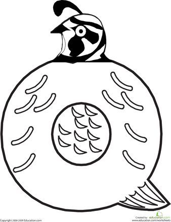 Worksheets: Letter Q Coloring Page