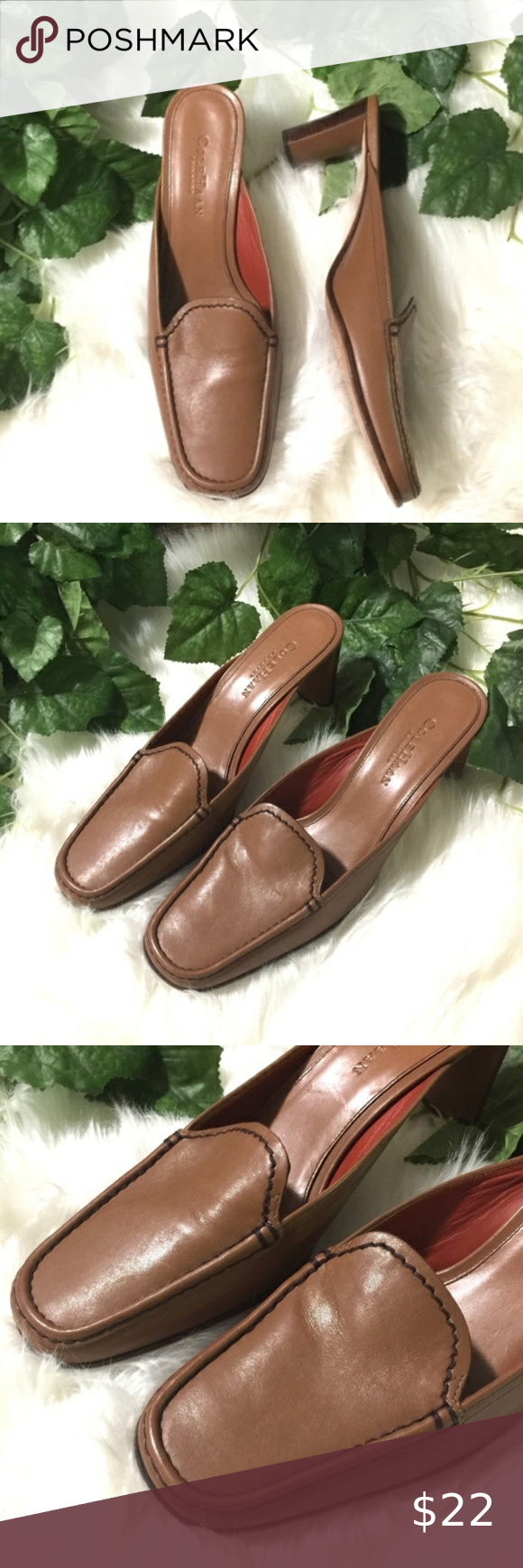 Cole Haan Mules Leather Narrow Sz 8AA