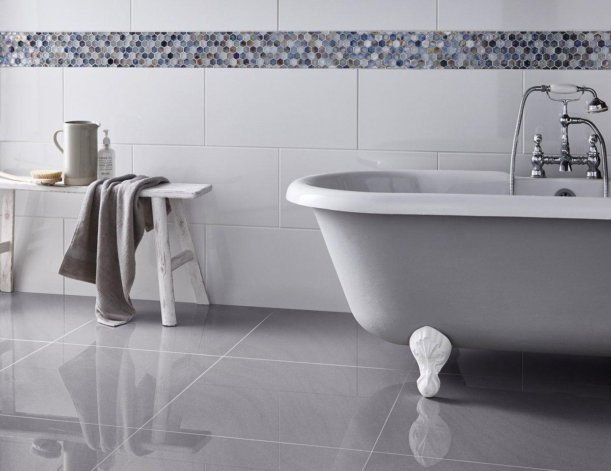 Grey Bathroom Floor Tiles For Neutral Choice | Stribal.com | Design ...