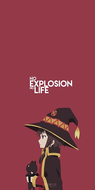 Megumin Konosuba Wallpaper Dengan Gambar Seni Anime Karakter Animasi Ilustrasi Poster