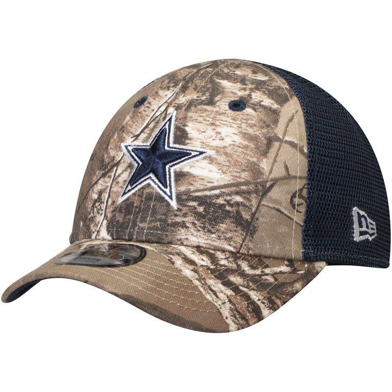 3d89dc9d3c8eb2 Dallas Cowboys New Era Toddler Trucker 9FORTY Adjustable Hat – Realtree  Camo/Navy