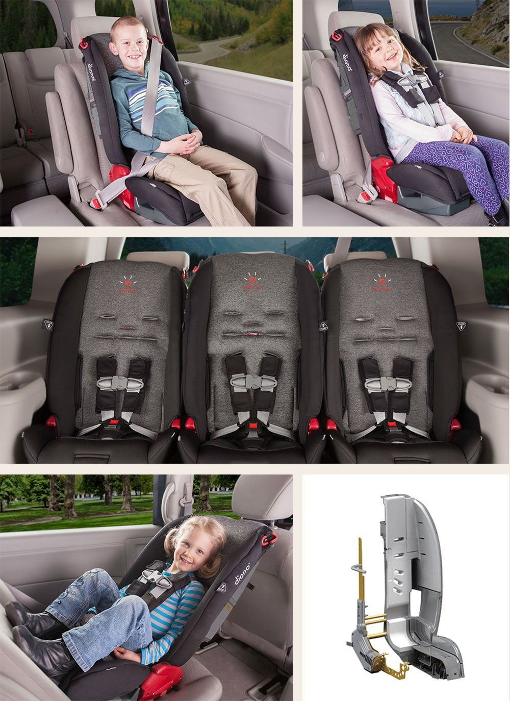 5 Point Harness Booster >> Diono Radian R100 Convertible Booster Car Seat With 5 Point Harness